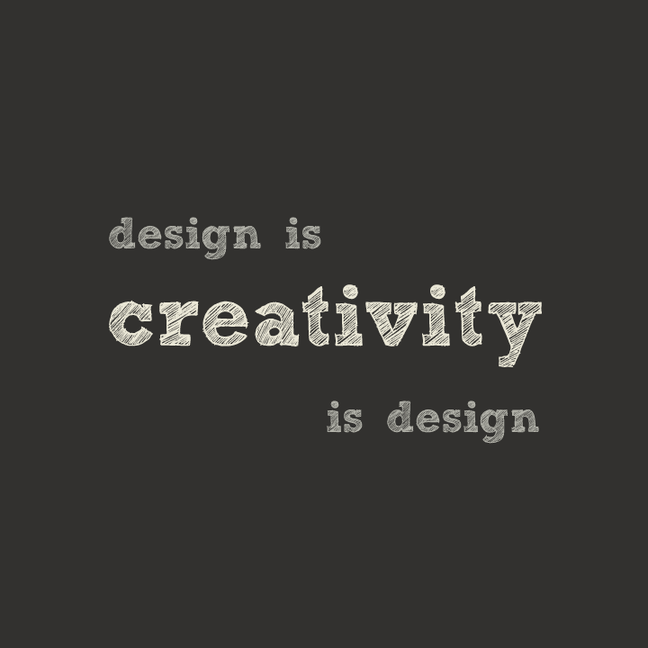 Creativity is design